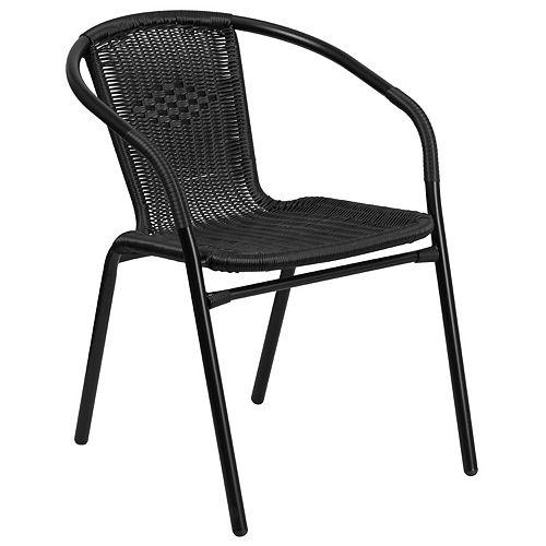 Black Rattan Stack Chair