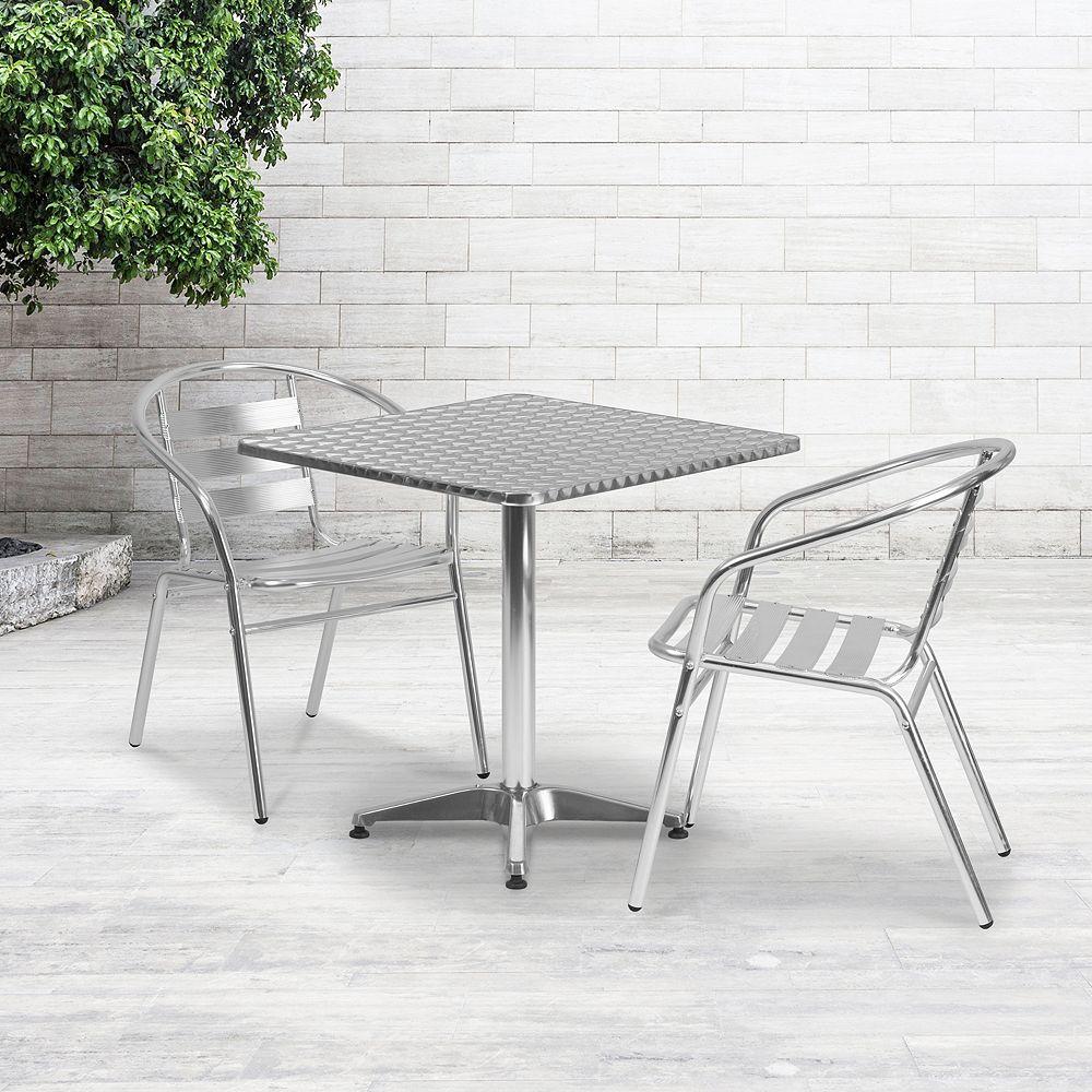 Flash Furniture 27.5SQ Aluminum Table