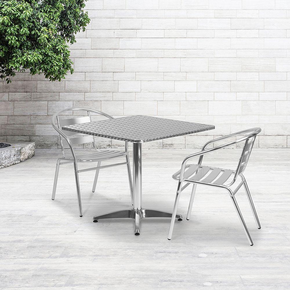 Flash Furniture 31.5SQ Aluminum Table
