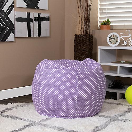 Petit fauteuil poire lavende à pois pour enfants