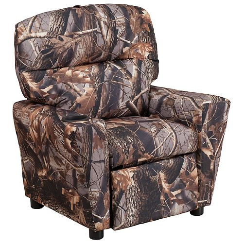 Flash Furniture Camo Fabric Kids Recliner