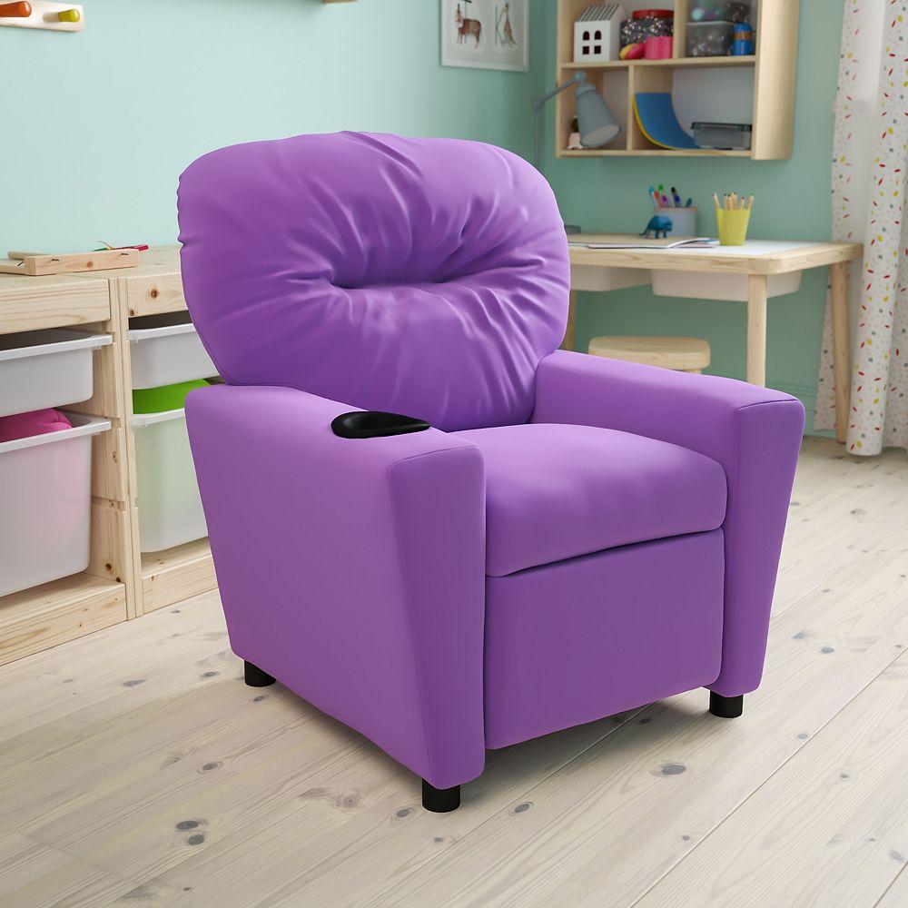 Flash Furniture Lavender Vinyl Kids Recliner