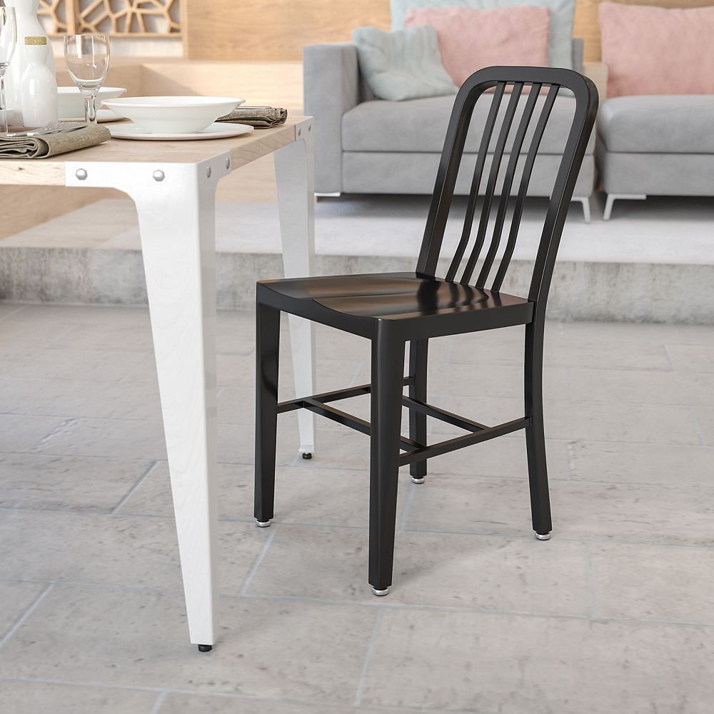 Flash Furniture Black Indoor-Outdoor Chair