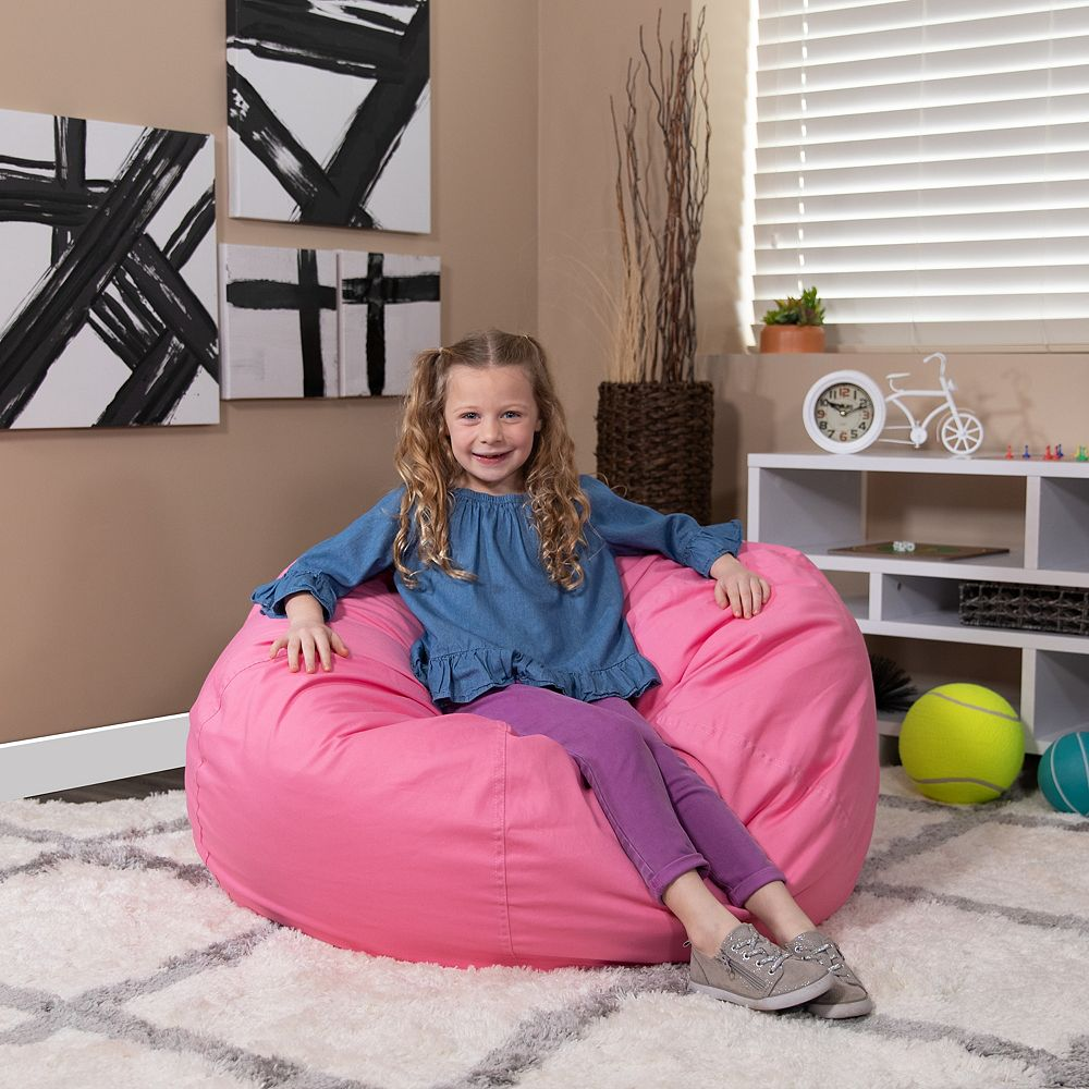 Flash Furniture Pink Bean Bag Chair | The Home Depot Canada