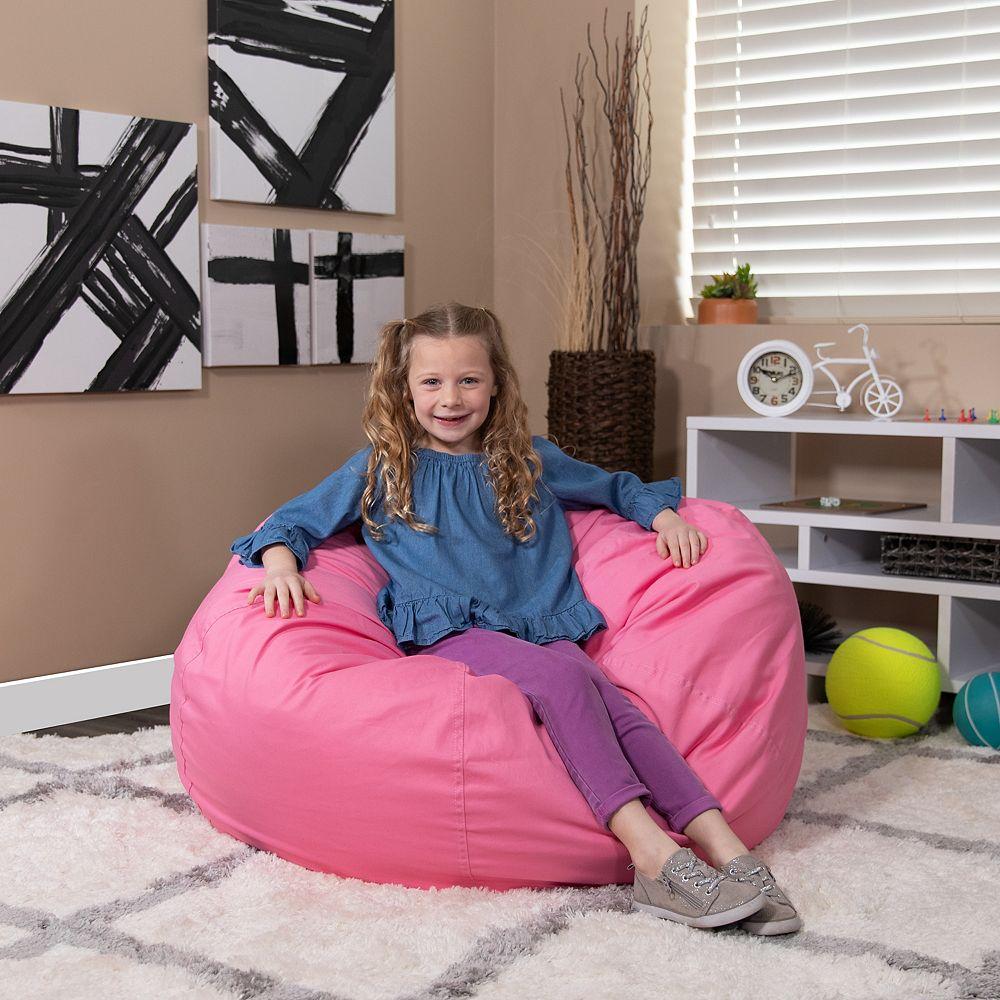 Flash Furniture Pink Bean Bag Chair | The Home Depot Canada
