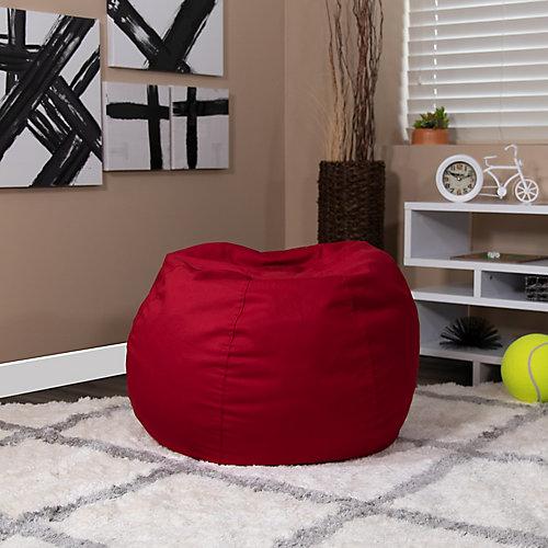 Petit fauteuil poire rouge plein pour enfants