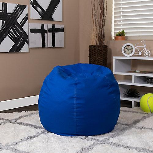 Petit fauteuil poire bleu royal plein pour enfants