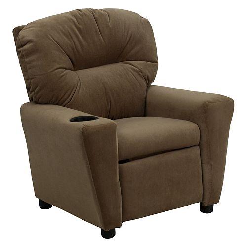 Flash Furniture Brown Microfiber Kids Recliner