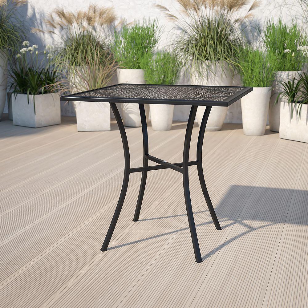 Flash Furniture 28SQ Black Patio Table