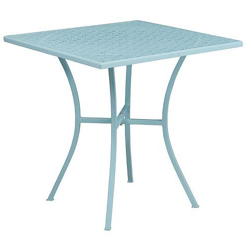 28SQ Sky Blue Patio Table