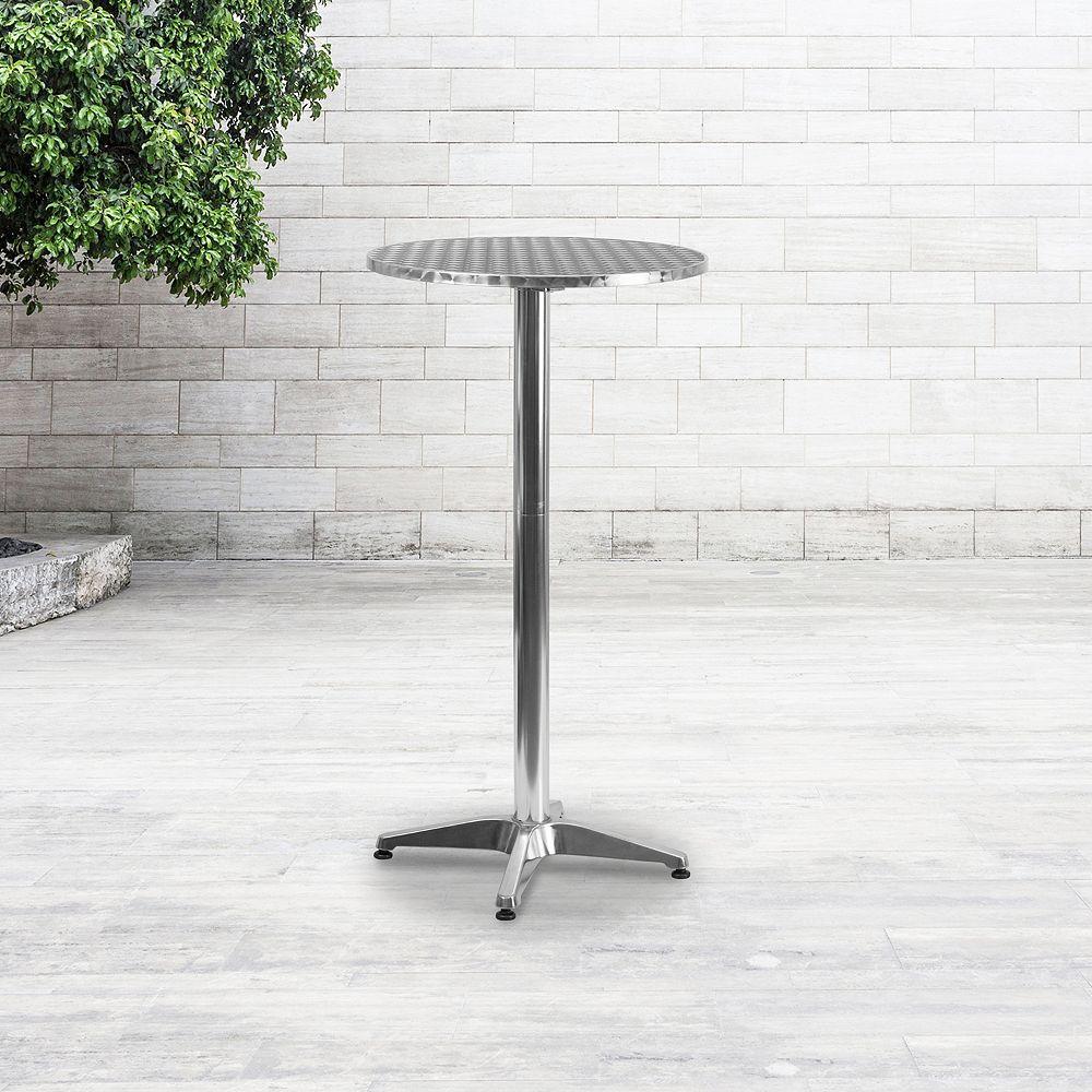 Flash Furniture 25.5RD Aluminum Fold Bar Table