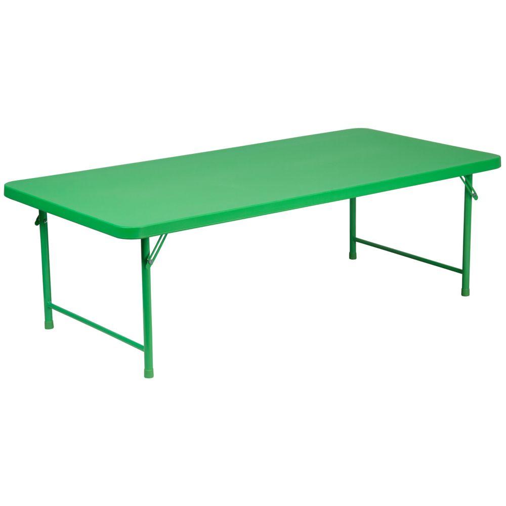 Flash Furniture Table Pliante En Plastique Vert Pour Enfant 30 Po