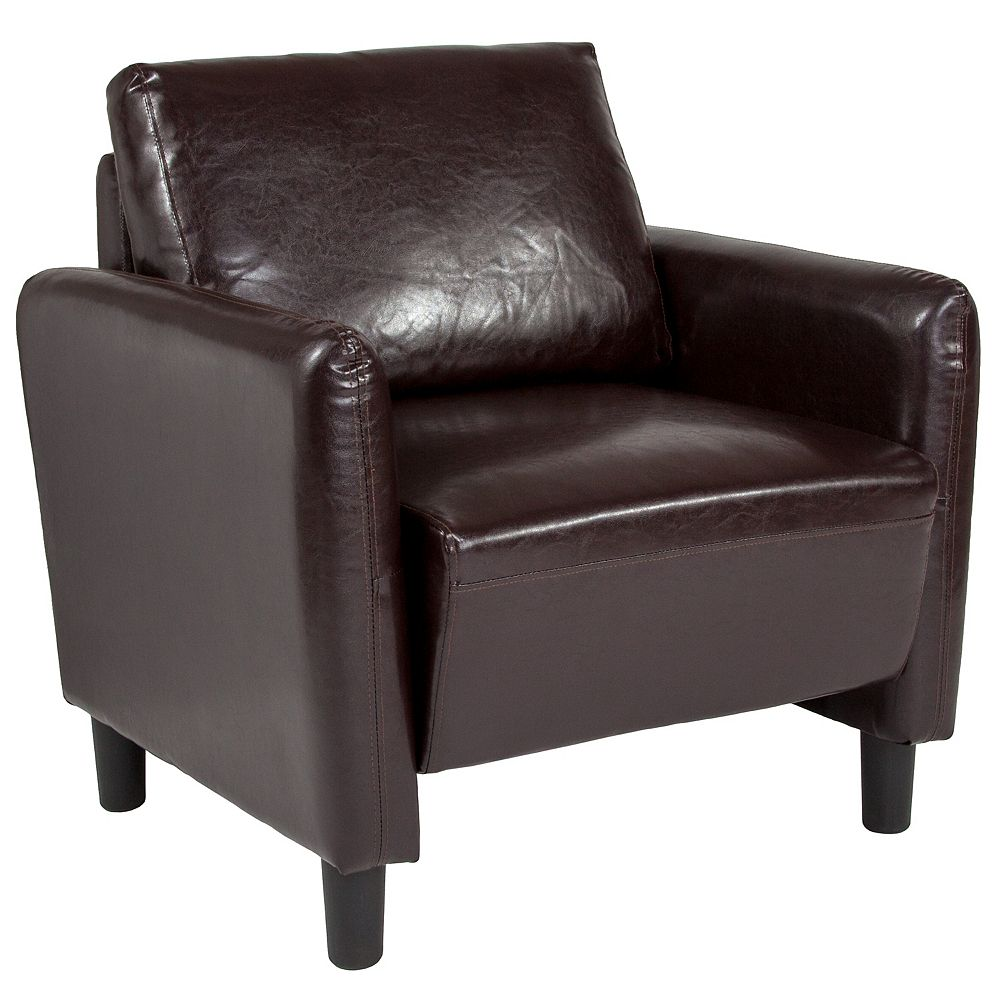 Flash Furniture Brown Leather Chair