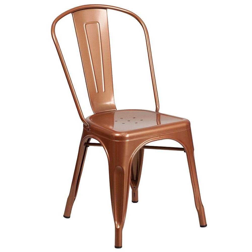 Flash Furniture Copper Metal Chair