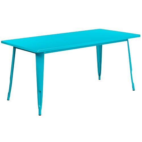 31.5x63 White Metal Table Set