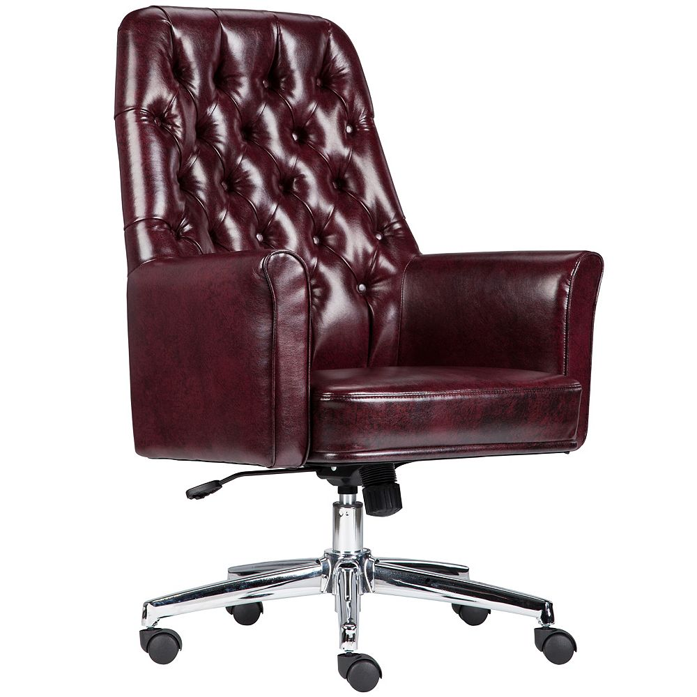 Flash Furniture Burgundy Mid-Back Chair