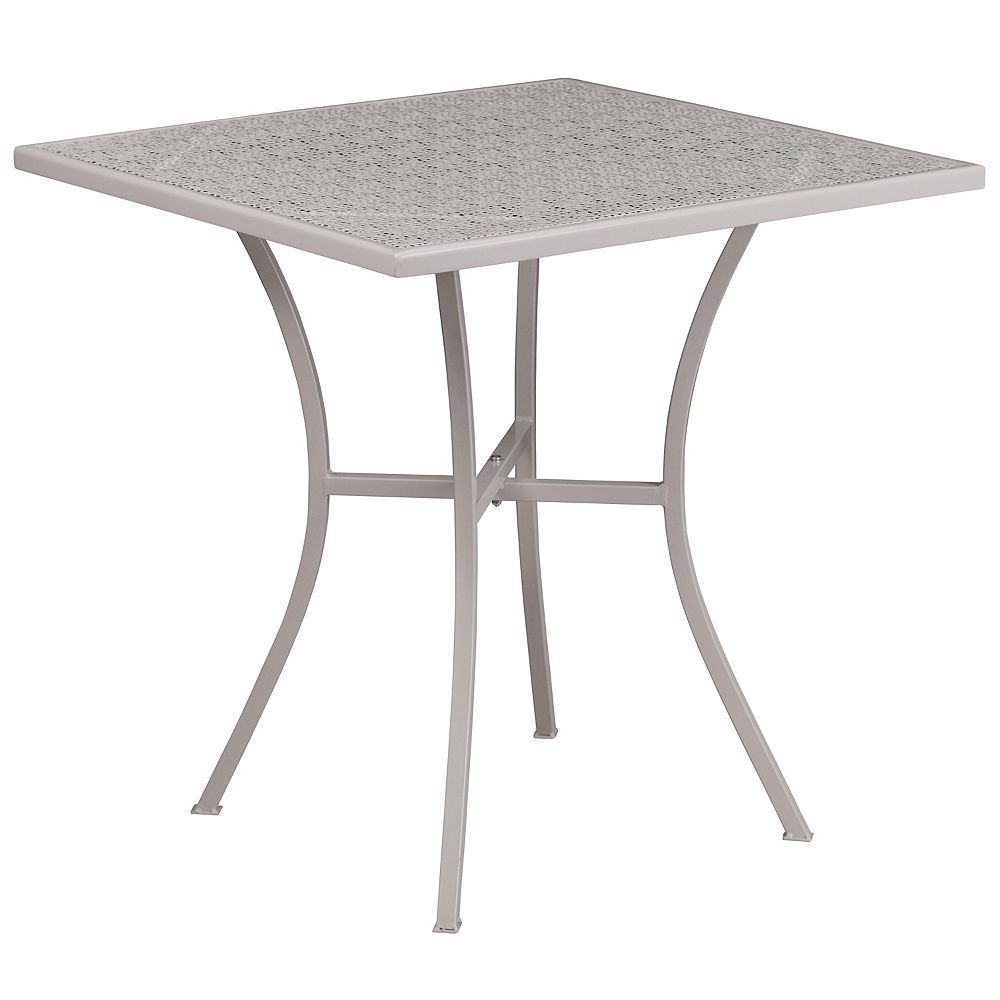 Flash Furniture 28SQ Light Gray Patio Table