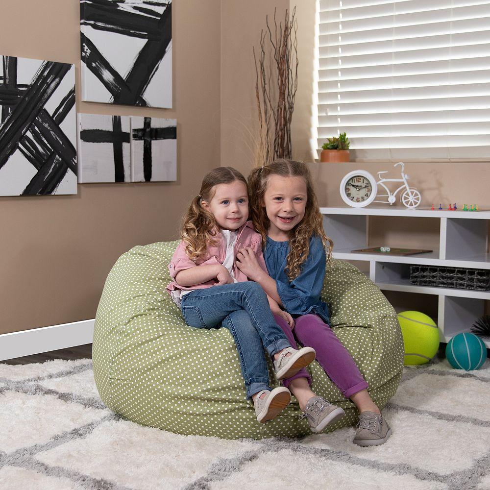 Flash Furniture Green Dot Bean Bag Chair