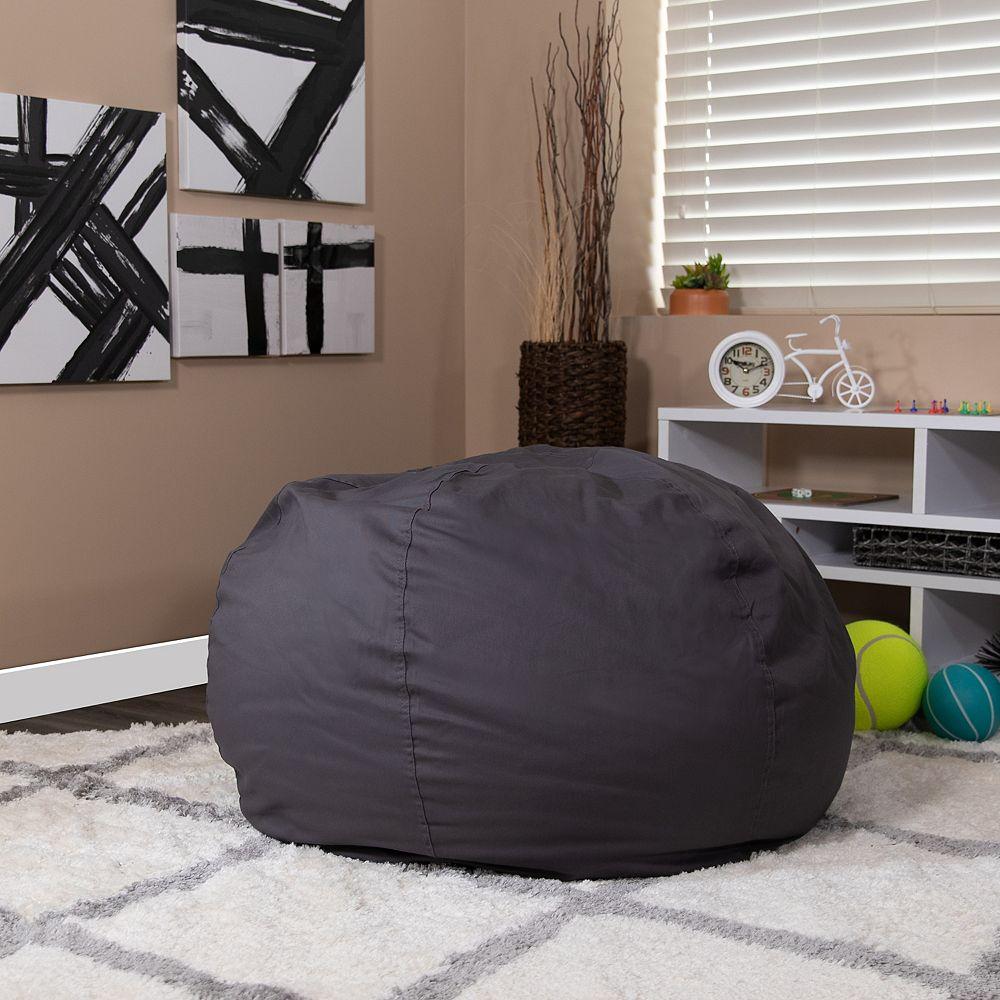 Flash Furniture Gray Bean Bag Chair