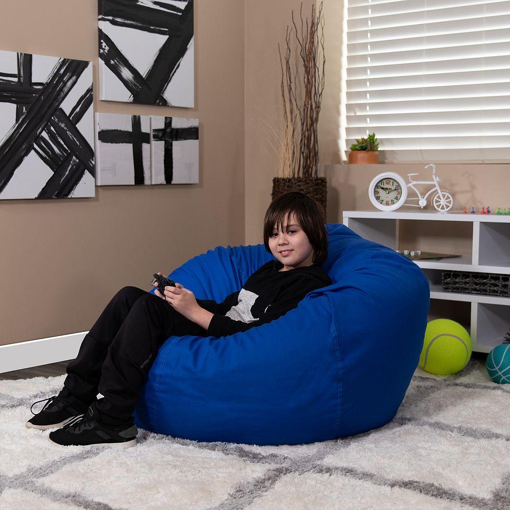 Flash Furniture Fauteuil poire surdimensionné bleu royal plein