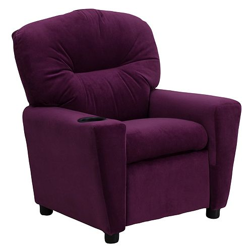 Flash Furniture Purple Micro Kids Recliner