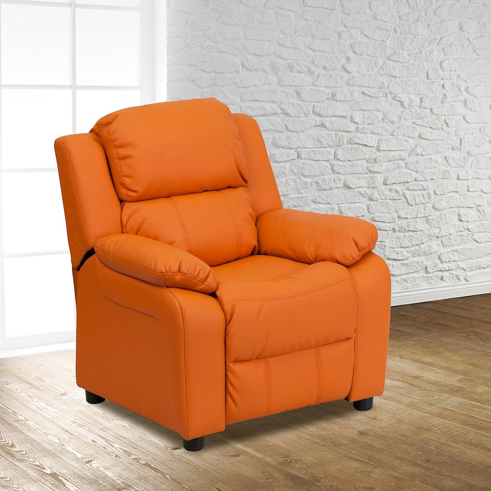 Flash Furniture Orange Vinyl Kids Recliner