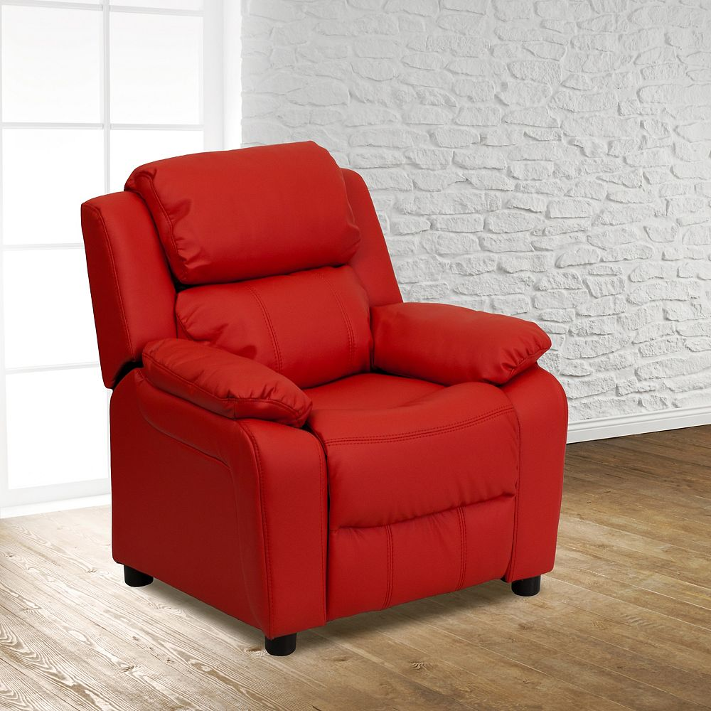 Flash Furniture Red Vinyl Kids Recliner
