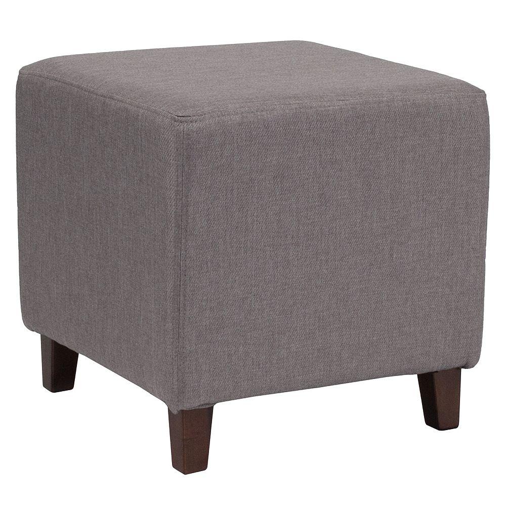 Flash Furniture Lt Gray Fabric Ottoman Pouf