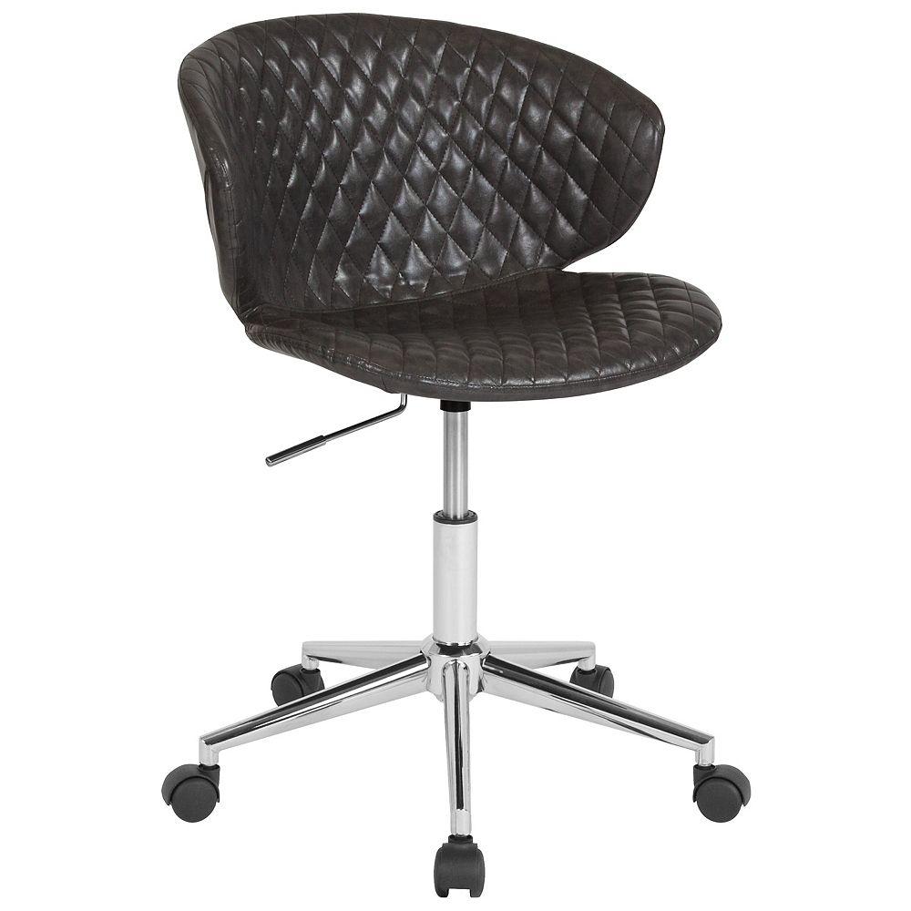 Flash Furniture Gray Vinyl Low Back Chair