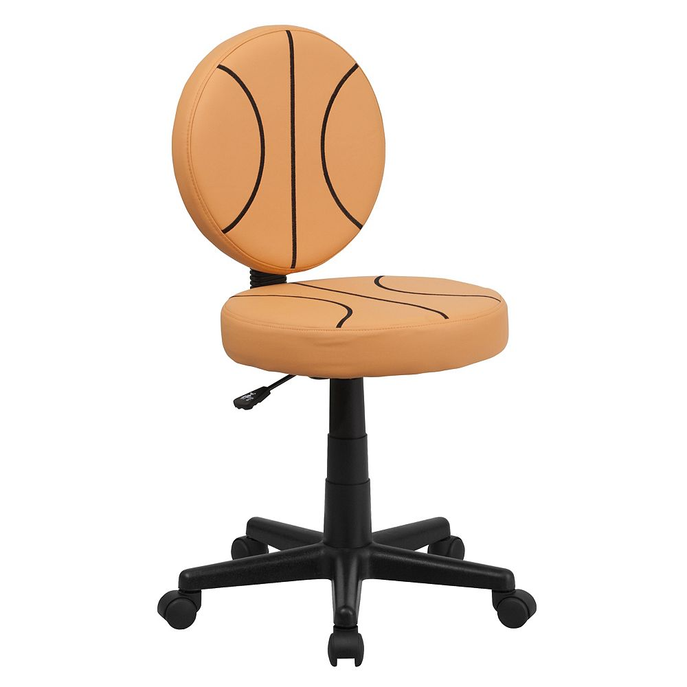 Flash Furniture Chaise de travail pivotante style basket-ball