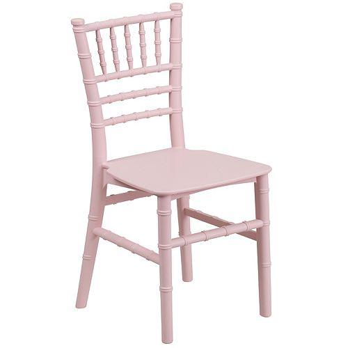 Kids Pink Resin Chiavari Seat