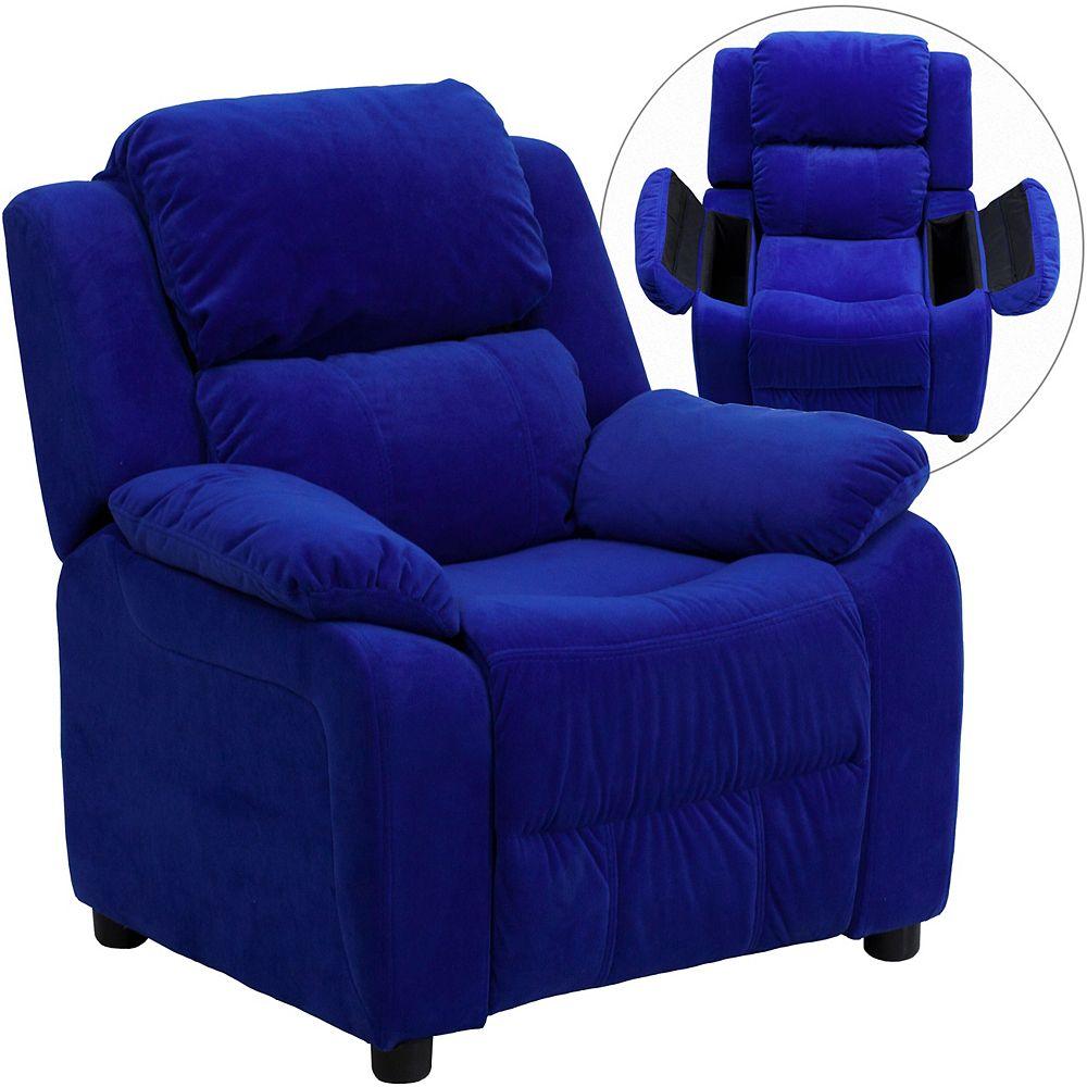Flash Furniture Blue Microfiber Kids Recliner