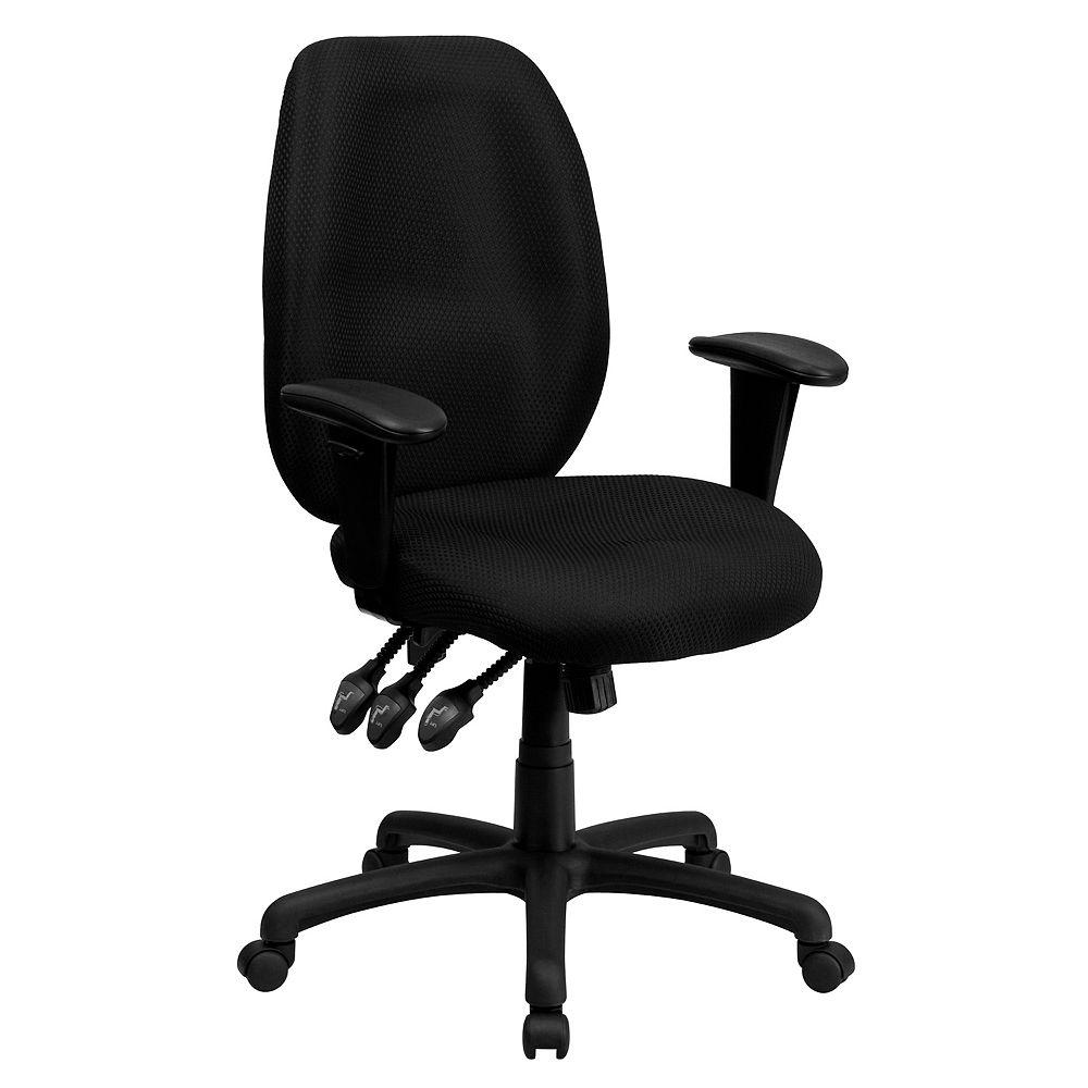 Flash Furniture Black High Back Fabric Chair