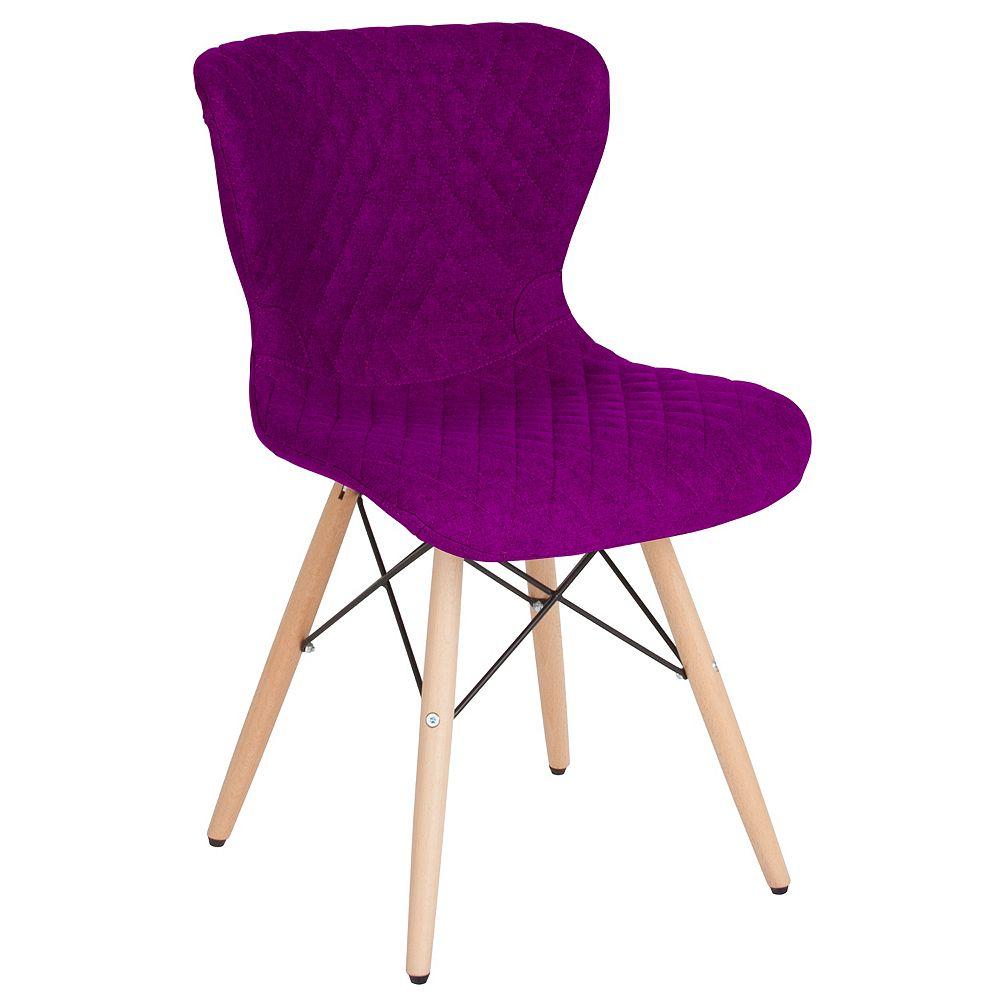 Flash Furniture Purple Fabric Chair-Wood Legs