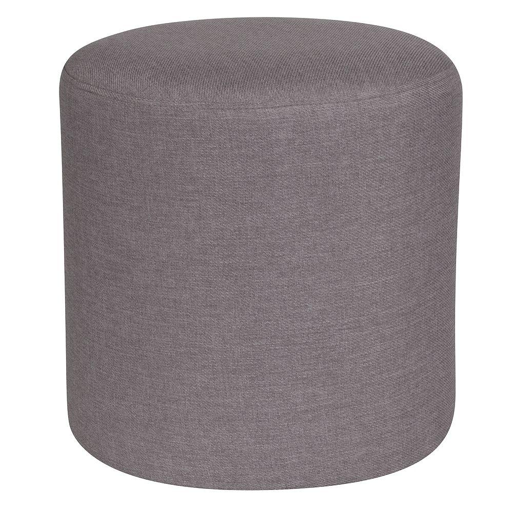 Flash Furniture Lt Gray Fabric Round Pouf