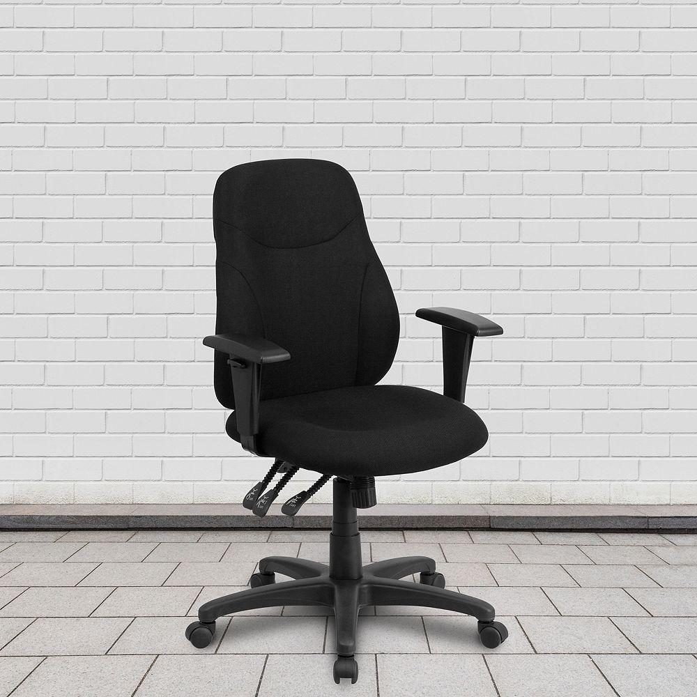 Flash Furniture Black Mid-Back Task Chair