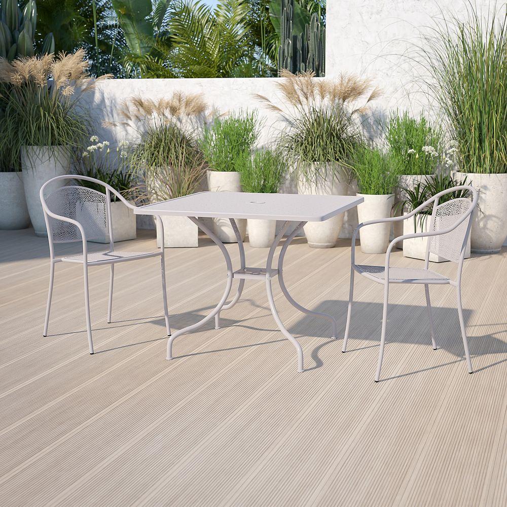 Flash Furniture 35.5SQ Light Gray Patio Table
