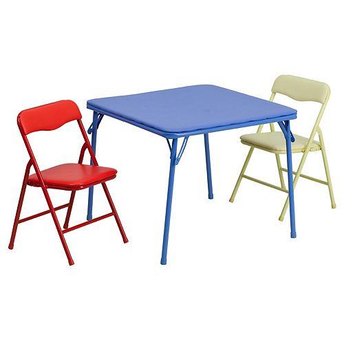 3 Piece Kids Folding Table Set