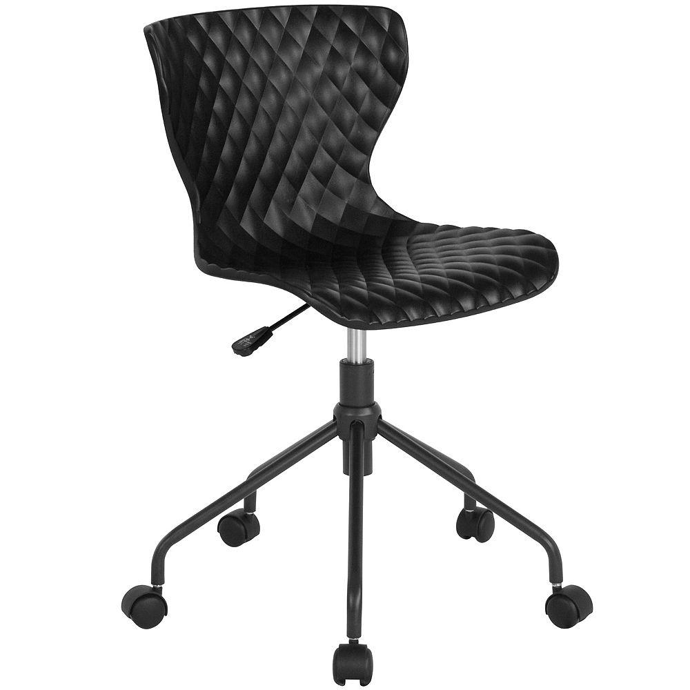 Flash Furniture Black Plastic Task Chair