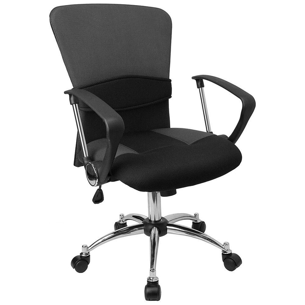 Flash Furniture Grey Mid-Back Task Chair