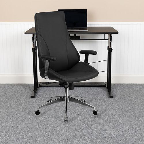 Flash Furniture Black High Back Leather Chair