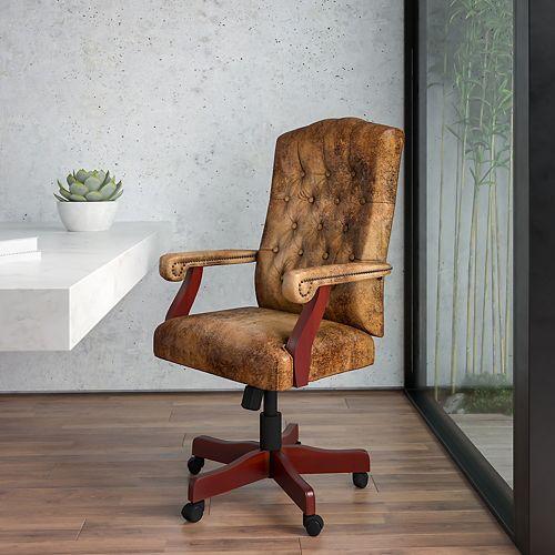 Flash Furniture Brown High Back Fabric Chair