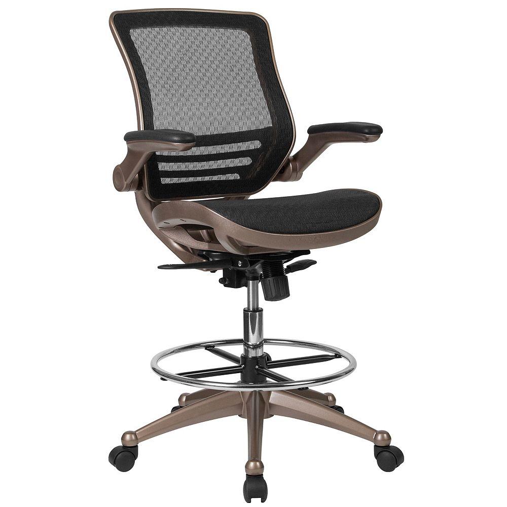 Flash Furniture Black Mesh Drafting Chair