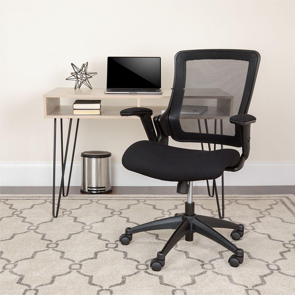 Flash Furniture Black Mid-Back Mesh Chair