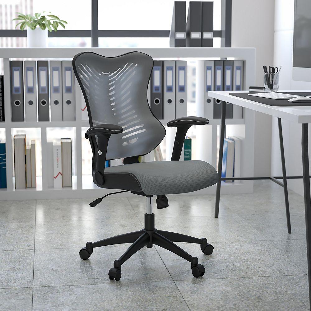 Flash Furniture Gray High Back Mesh Chair