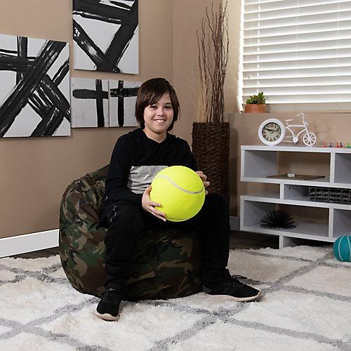 Petit fauteuil poire camouflage pour enfants