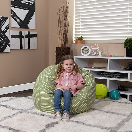 Green Dot Bean Bag Chair