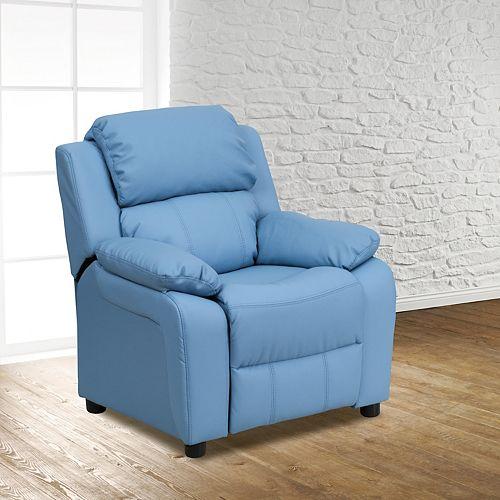 Flash Furniture Light Blue Kids Recliner