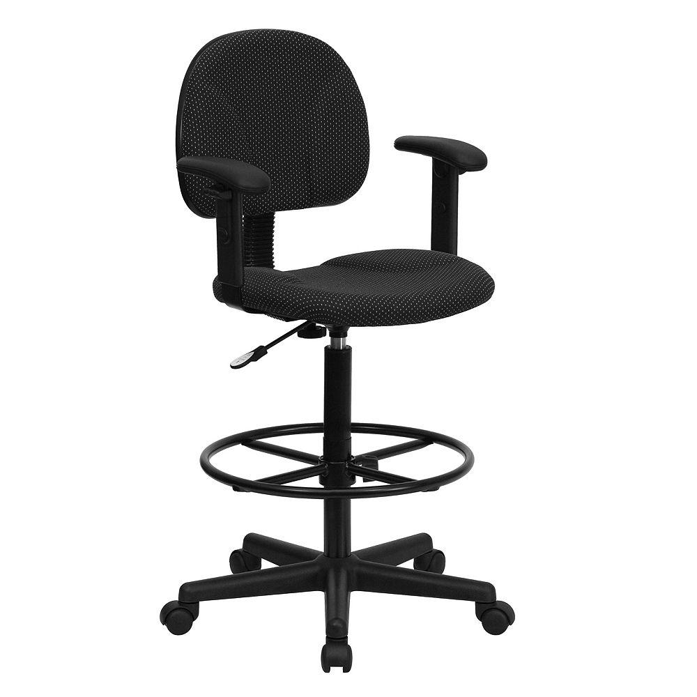 Flash Furniture EMB Black Fabric Draft Chair