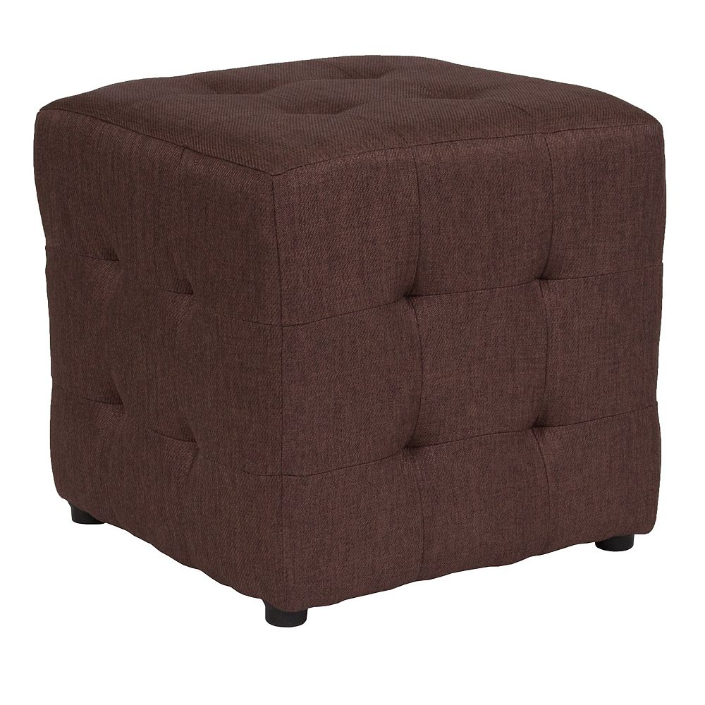 Flash Furniture Brown Fabric Tufted Pouf